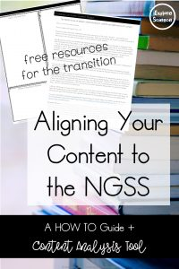how your content will change when you transition to the NGSS