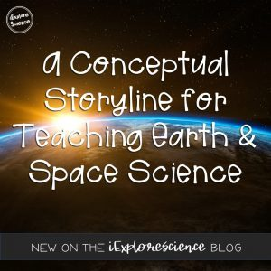 A conceptual storyline for teaching Earth and Space Science at the high school level - aligned to the NGSS.